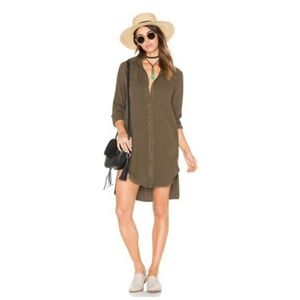 Cloth & Stone Olive Shirt Dress